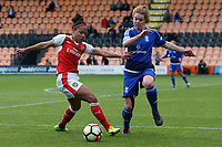 Alex Scott of Arsenal Ladies and Aoife Mannion of Birmingham City Ladies during Arsenal Ladies vs Birmingham City Ladies, FA Women's Super League FA WSL1 Football at the Hive Stadium on 20th May 2017