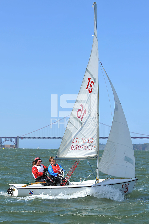 SAN FRANCISCO, CA - APRIL 5:  Sailors during the Collegiate Regatta on April 5, 2008 at the St. Francis Yacht Club in San Francisco, CA.