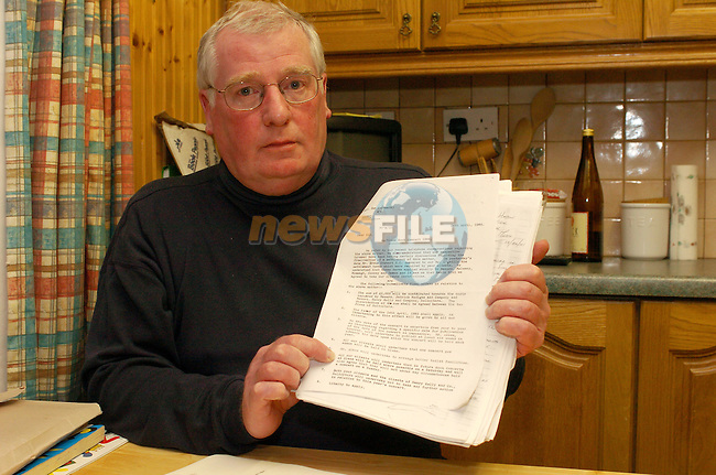 Eddie Huston holding the Documents on Slane Concerts.Photo AFP/NEWSFILE/FRAN CAFFREY..(Photo credit should read FRAN CAFFREY/NEWSFILE/AFP)...This Picture has been sent you under the condtions enclosed by:.Newsfile Ltd..the Studio,.Millmount Abbey,.Drogheda,.Co Meath..Ireland..Tel: +353(0)41-9871240.Fax: +353(0)41-9871260.GSM: +353(0)86-2500958.email: pictures@newsfile.ie.www.newsfile.ie.FTP: 193.120.102.198..This picture is from Fran Caffrey@newsfile.ie