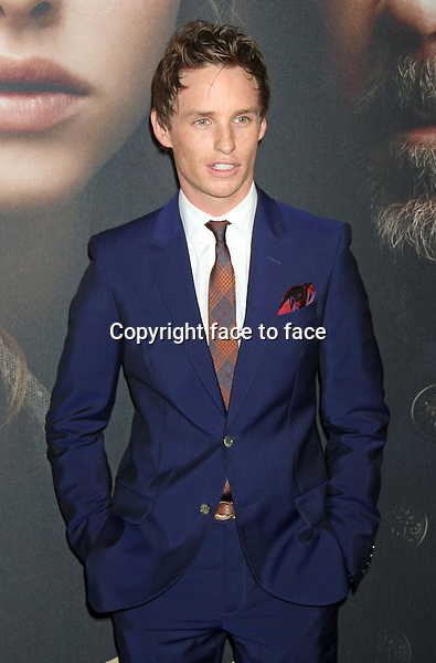 "Eddie Redmayne at the ""Les Miserables"" New York premiere at Ziegfeld Theatre, New York, 10.12.2012...Credit: MediaPunch/face to face..- Germany, Austria, Switzerland, Eastern Europe, Australia, UK, USA, Taiwan, Singapore, China, Malaysia and Thailand rights only -"