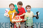Billy Walsh, Liam Kingston and Josh Elvins at the Artsy Bits Summer Camp at the Cumann Iosaef Community Centre, Tralee on Friday.