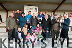 Listowel Coursing: Mike Shine, Listowel accepting the trophy as his dog Redhaired Mary won Jet Carroll Memorial Cup from Eamonn Carroll at Listowel on Sunday last