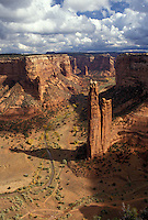 AJ3871, Canyon De Chelly, Canyon De Chelly National Monument, Arizona, View of Spider Rock in Canyon De Chelly Nat'l Monument in the state of Arizona.