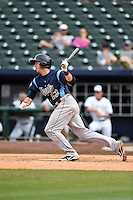 Corpus Christi Hooks third baseman Matt Duffy (13) at bat during a game against the NW Arkansas Naturals on May 26, 2014 at Arvest Ballpark in Springdale, Arkansas.  NW Arkansas defeated Corpus Christi 5-3.  (Mike Janes/Four Seam Images)