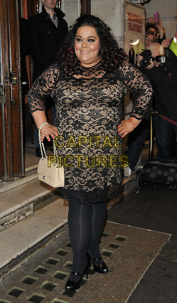 LONDON, ENGLAND - FEBRUARY 25: Lisa Riley attends the &quot;The Full Monty&quot; press night, Noel Coward Theatre, St Martin's Lane, on Tuesday February 25, 2014 in London, England, UK.<br /> CAP/CAN<br /> &copy;Can Nguyen/Capital Pictures