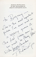BNPS.co.uk (01202 558833)<br /> Pic: Bonhams/BNPS<br /> <br /> Magic message...<br /> <br /> A Harry Potter first edition inscribed by JK Rowling to the first person 'to see merit' in the boy wizard has emerged for sale for £90,000.<br /> <br /> The author, then unknown and unpublished, sent a manuscript with the first three chapters of The Philosopher's Stone to literary agent Christopher Little in 1995.<br /> <br /> However, since the agent had not previously handled children's literature, it was destined for the bin.<br /> <br /> But office manager Byrony Evens, intrigued by the manuscript's distinctive black folder, picked it up from the pile and read through it. Captivated by its contents, she suggested to Little they request the rest of the story from Rowling.<br /> <br /> From there, the Harry Potter phenomenon was born which has spawned seven books, films and theme parks - giving Rowling an estimated net worth of £750million. Now, Evens is selling the first edition - of which just 500 were printed - with auctioneer Bonhams, of London.
