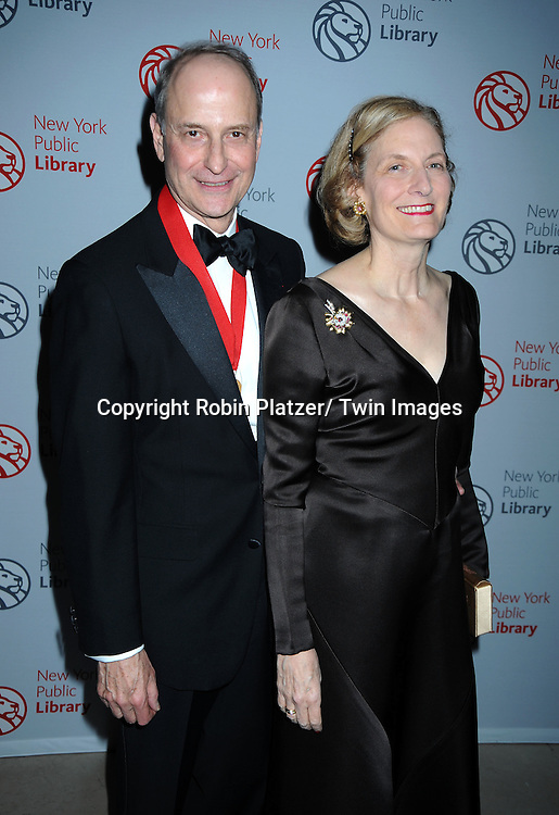 Dr Paul LeClerc and wifeJudith Ginsberg attending The New York Public Library honors the 2010 Library Lions including, Malcolm Gladwell, Ethan Hawke, Paul LeClerc, Steve Martin and Zadie Smith on November 1, 2010 at The New York Public Library on Fifth Avenue and 42nd Street.