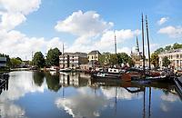 Nederland Gouda  2017.  Boten in de Turfsingel. Museumhaven.  Foto Berlinda van Dam / Hollandse Hoogte