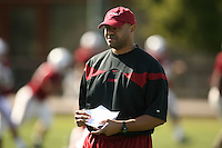9 April 2007: David Shaw during spring practice in Stanford, CA.