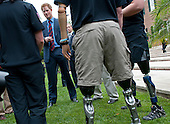 Prince Harry greets British wounded warriors during a reception at the British Ambassador's Residence in Washington, D.C. on May 7, 2012.  .Credit: Kevin Dietsch / Pool via CNP