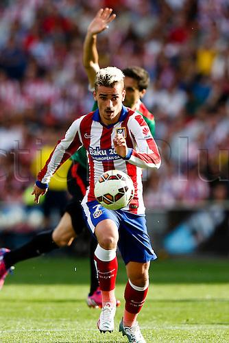 02.05.2015. Bilbao, Spain. Antonie Griezmann Forward of Atletico de Madrid . La Liga football. Atletico de Madrid versus Athletic Club Bilbao at Vicente Calderon stadium.
