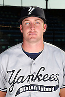Staten Island Yankees pitcher Chase Whitley poses for a photo before a game vs. the Jamestown Jammers at Russell Diethrick Park in Jamestown Jammers, New York July 15, 2010.   Jamestown defeated Staten Island 5-1.  Photo By Mike Janes/Four Seam Images