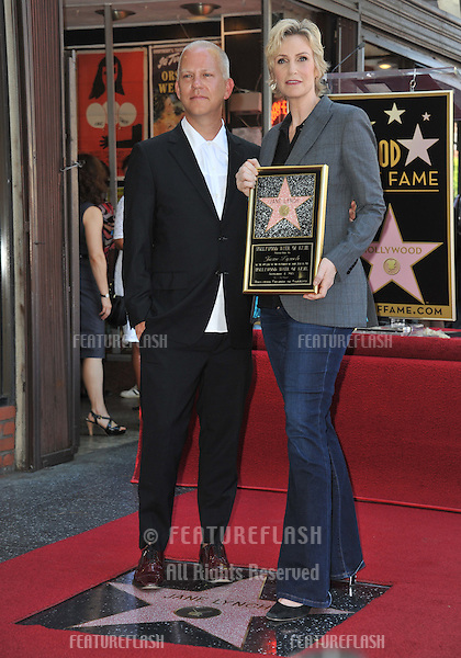 Glee star Jane Lynch &amp; producer Ryan Murphy on Hollywood Blvd where she was honored with the 2,505th star on the Hollywood Walk of Fame.<br /> September 4, 2013  Los Angeles, CA<br /> Picture: Paul Smith / Featureflash