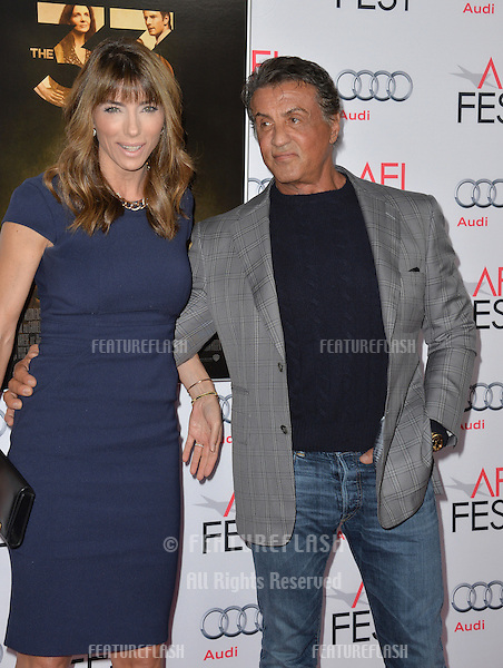 Actor Sylvester Stallone &amp; wife Jennifer Flavin at the premiere of &quot;The 33&quot;, part of the AFI FEST 2015, at the TCL Chinese Theatre, Hollywood. <br /> November 9, 2015  Los Angeles, CA<br /> Picture: Paul Smith / Featureflash