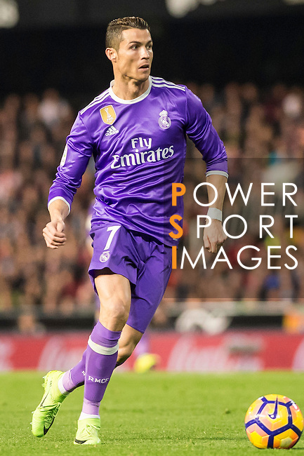 Cristiano Ronaldo of Real Madrid in action during their La Liga match between Valencia CF and Real Madrid at the Estadio de Mestalla on 22 February 2017 in Valencia, Spain. Photo by Maria Jose Segovia Carmona / Power Sport Images