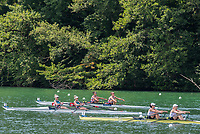 """Lucerne, SWITZERLAND, 14th July 2018, Saturday, """"Ligthweight Wonen's Double Scull's"""" SUI LW2X, RSA LW2X and GER LW2X, Repechage, FISA World Cup III Lake Rotsee, © Peter SPURRIER,"""