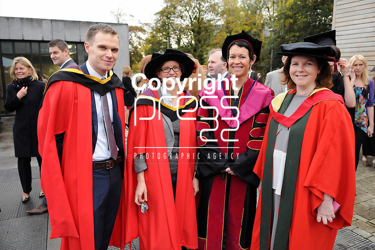 24/10/2014  With Compliments, Attending The Mary Immaculate College Conferrings were Mary Immaculate College Lecturers John O' Shea, Maths Ed, Mairead Hourigan, Maths Ed, Aisling Leavy, Maths Ed and Suzanne Parkinson, Pyschology.<br /> Pic: Gareth Williams / Press 22