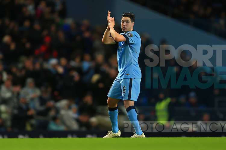 Samir Nasri of Manchester City applauds the fans - Manchester City vs. Sunderland - Barclay's Premier League - Etihad Stadium - Manchester - 28/12/2014 Pic Philip Oldham/Sportimage