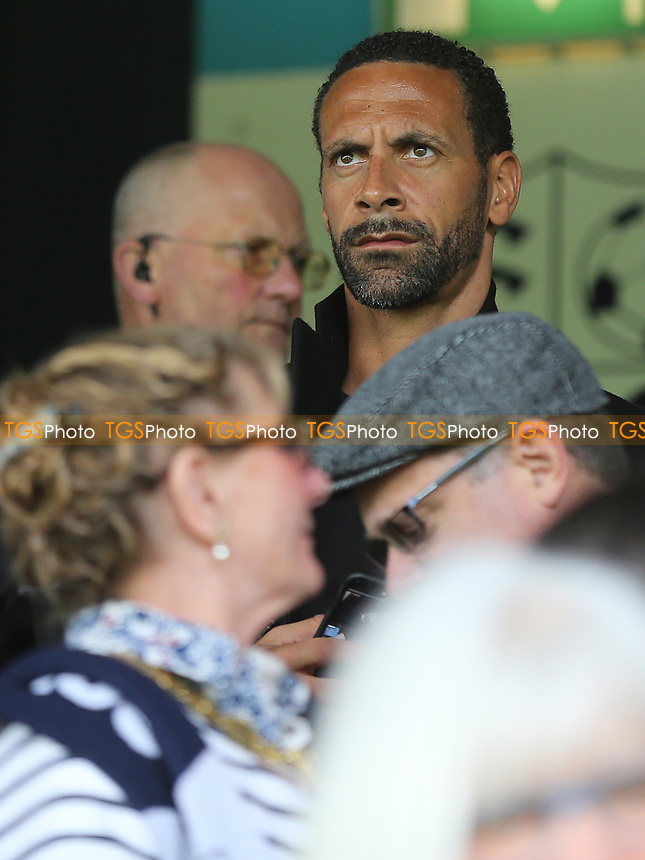 Rio Ferdinand was watching from the Stand during Southend United vs MK Dons, Sky Bet EFL League 1 Football at Roots Hall on 17th April 2017