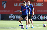 Atletico de Madrid's Felipe Augusto (l) and Hector Herrera during training session. August 7,2020.(ALTERPHOTOS/Atletico de Madrid/Pool)