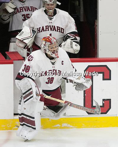 Emerance Maschmeyer (Harvard - 38) - The visiting Boston College Eagles defeated the Harvard University Crimson 2-0 on Tuesday, January 19, 2016, at Bright-Landry Hockey Center in Boston, Massachusetts.