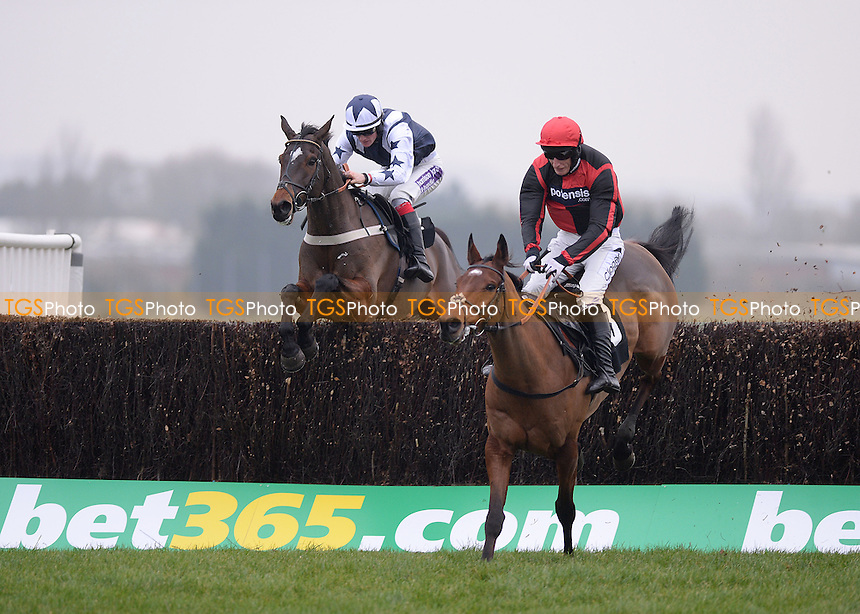 Easter Day ridden by Daryl Jacob leads from Sergeant Dick and Sam Twiston-Davies to win the bet365 Novices´ Limited Handicap Chase Cl3  - Horse Racing at Newbury Racecourse, Newbury, Berkshire 28/11/2013 - MANDATORY CREDIT: Martin Dalton/TGSPHOTO - Self billing applies where appropriate - 0845 094 6026 - contact@tgsphoto.co.uk - NO UNPAID USE