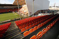 A general view of Bloomfield Road, home of Blackpool Football Club<br /> <br /> Photographer Rich Linley/CameraSport<br /> <br /> The EFL Sky Bet League One - Blackpool v Barnsley - Saturday 22nd December 2018 - Bloomfield Road - Blackpool<br /> <br /> World Copyright &copy; 2018 CameraSport. All rights reserved. 43 Linden Ave. Countesthorpe. Leicester. England. LE8 5PG - Tel: +44 (0) 116 277 4147 - admin@camerasport.com - www.camerasport.com