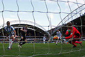 17th March 2018, The John Smiths Stadium, Huddersfield, England; EPL Premier League football, Huddersfield Town versus Crystal Palace; Jonas Lossl of Huddersfield Town saves James Tomkins of Crystal Palace first effort but Tomkins scores from the rebound