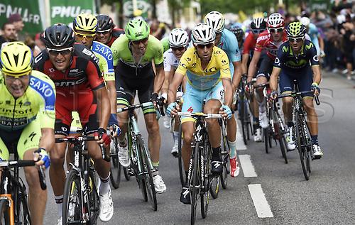 11.07.2014. Eperney to nancy, France. Tour de France cycling tour.  VANMARCKE Sep BEL of Belkin-Pro Cycling Team - VAN DEN BROECK Jurgen BEL of Lotto Belisol - NIBALI Vincenzo ITA of Astana Pro Team - VAN AVERMAET Greg BEL of BMC Racing Team  - VALVERDE Alejandro ESP of Movistar Team