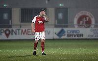 Fleetwood Town's Ashley Eastham looks dejected at the final whistle<br /> <br /> Photographer Rich Linley/CameraSport<br /> <br /> The EFL Sky Bet League One - Fleetwood Town v Oxford United - Saturday 12th January 2019 - Highbury Stadium - Fleetwood<br /> <br /> World Copyright &copy; 2019 CameraSport. All rights reserved. 43 Linden Ave. Countesthorpe. Leicester. England. LE8 5PG - Tel: +44 (0) 116 277 4147 - admin@camerasport.com - www.camerasport.com