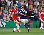 Adam Forshaw of Middlesbrough tackled by Paul Coutts of Sheffield Utd during the Championship match at the Riverside Stadium, Middlesbrough. Picture date: August 12th 2017. Picture credit should read: Simon Bellis/Sportimage
