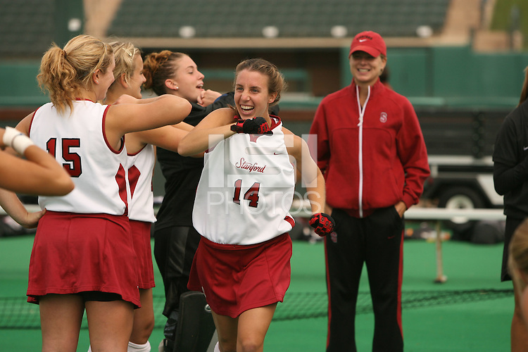 30 October 2007: Heather Alcorn during Stanford's 8-2 win over Radford at the Varsity Field Hockey Turf in Stanford, CA.