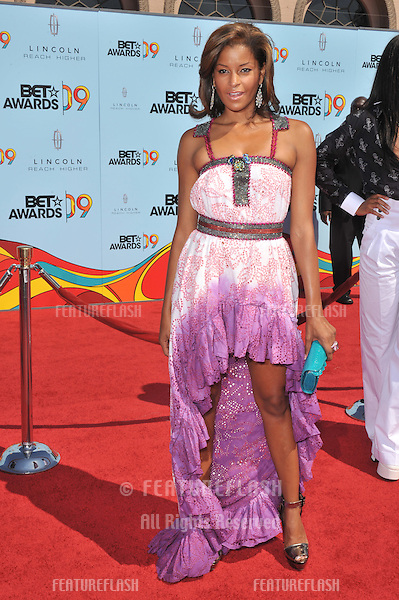 Claudia Jordan at the 2009 BET Awards (Black Entertainment Television) at the Shrine Auditorium..June 28, 2009  Los Angeles, CA.Picture: Paul Smith / Featureflash