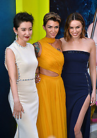 "LOS ANGELES, CA - August 06, 2018: Li Bingbing, Ruby Rose & Jessica McNamee at the US premiere of ""The Meg"" at the TCL Chinese Theatre"