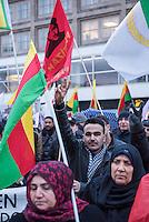 Kurdendemo gegen Krieg in Kurdistan.<br /> Mehrere hundert Kurden demonstrierten am Freitag den 11. Februar 2016 in Berlin gegen den Krieg der tuerkischen Regierung gegen die Kurden im tuerkischen Teil Kurdistans. Sie forderten ein Eingreifen des Westens gegen die Politik Erdogans gegen die Kurden und die Freilassung des Chef der verbotenen Partei PKK, Abdullah Oecalan.<br /> 11.2.2016, Berlin<br /> Copyright: Christian-Ditsch.de<br /> [Inhaltsveraendernde Manipulation des Fotos nur nach ausdruecklicher Genehmigung des Fotografen. Vereinbarungen ueber Abtretung von Persoenlichkeitsrechten/Model Release der abgebildeten Person/Personen liegen nicht vor. NO MODEL RELEASE! Nur fuer Redaktionelle Zwecke. Don't publish without copyright Christian-Ditsch.de, Veroeffentlichung nur mit Fotografennennung, sowie gegen Honorar, MwSt. und Beleg. Konto: I N G - D i B a, IBAN DE58500105175400192269, BIC INGDDEFFXXX, Kontakt: post@christian-ditsch.de<br /> Bei der Bearbeitung der Dateiinformationen darf die Urheberkennzeichnung in den EXIF- und  IPTC-Daten nicht entfernt werden, diese sind in digitalen Medien nach §95c UrhG rechtlich geschuetzt. Der Urhebervermerk wird gemaess §13 UrhG verlangt.]