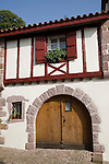 House on Main Street, St Jean Pied de Port, Basque Country, Pyrenees-Atlantiques, Aquitaine, France