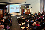 """Mersad Raeisi, a Doctoral Student studying Chemistry in the College of Arts and Sciences presents his thesis entitled """"Chemistry that Self-assmebles""""."""