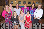 Castleisland woman Noreen O'Mahoney enjoying her 40th birthday celebrations last Saturday night in Leen's Hotel, Abbeyfeale. F l-r: Bridget Van Der Merwe, Noreen O'Mahoney, Breda O'Callaghan. B l-r: Noreen O'Connor, Mag Reidy, Maz Brosnan, Noelle Broderick, Mary O'Donoghue, Mary Scannell.