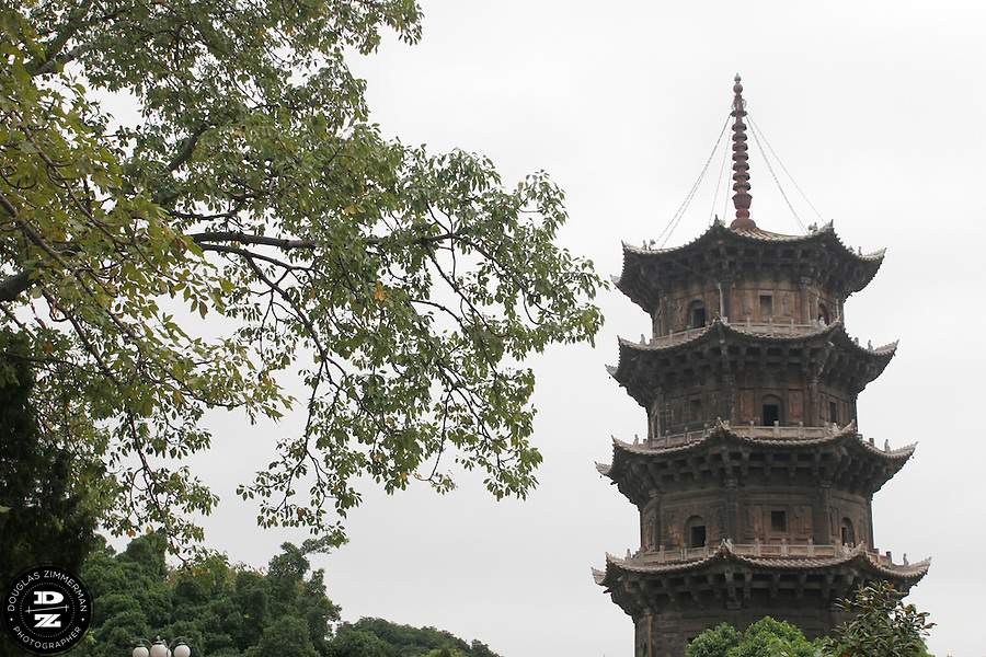 The Zhenguo pagoda is one of two five-story pagoda at the Kaiyuan Temple in Quanzhou, China.  The temple dates back to 686 AD.  Photograph by Douglas ZImmerman