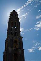 Iznaga Tower on the historic colonial sugar plantation at Manaca-Iznaga, Valley de los Ingenios, Cuba.