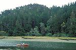 People Canoeing up Big River, Mendocino California