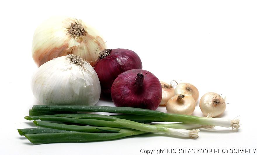 Onions still life.