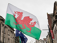 A Wales flag flying before the match<br /> <br /> Photographer Simon King/CameraSport<br /> <br /> International Rugby Union - 2017 Under Armour Series Autumn Internationals - Wales v Australia - Saturday 11th November 2017 - Principality Stadium - Cardiff<br /> <br /> World Copyright &copy; 2017 CameraSport. All rights reserved. 43 Linden Ave. Countesthorpe. Leicester. England. LE8 5PG - Tel: +44 (0) 116 277 4147 - admin@camerasport.com - www.camerasport.com