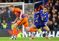 Eden Hazard of Chelsea and Kevin De Bruyne of Manchester City during the Premier League match between Chelsea and Manchester City at Stamford Bridge on April 5th 2017 in London, England.<br /> Foto PHC Images / Panoramic / Insidefoto <br /> ITALY ONLY