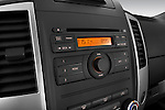 Stereo audio system close up detail view of a 2009 Nissan Xterra Off Road
