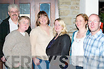 LEAVING PARTY: Mairead Hanrahan of Moyvane enjoying a meal with friends at her leaving party at Station House bar and restaurant on Friday night l:r Tom Wall, Bernie Spring, Eimear Carey Purcell, Ann Cronin, Molly Harahan and Eugene Tonner.   Copyright Kerry's Eye 2008