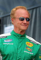 Apr 26, 2008; Talladega, AL, USA; NASCAR Nationwide Series driver Morgan Shepherd prior to the Aarons 312 at the Talladega Superspeedway. Mandatory Credit: Mark J. Rebilas-