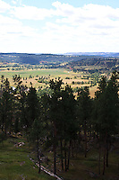 The view from the hiking trail at Devils Tower in Wyoming on August 15, 2010.
