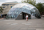 Modern glass dome America Today shop building, Eindhoven city centre, North Brabant province, Netherlands