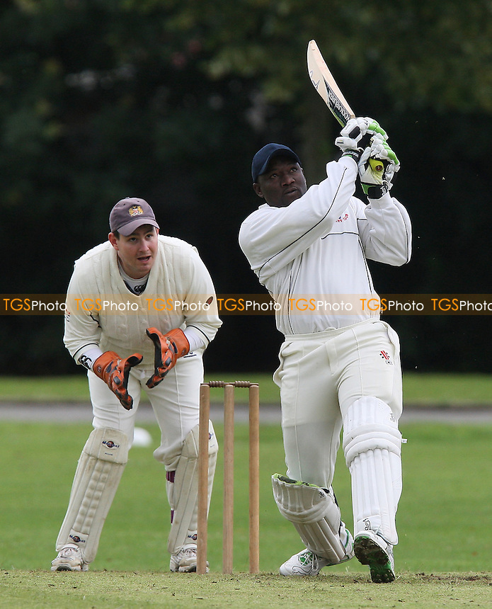 A Wallcott in batting action for Leyton - Hornchurch Athletic CC vs Leyton County CC - Lords International Cricket League at Hylands Park - 12/07/08 - MANDATORY CREDIT: Gavin Ellis/TGSPHOTO - Self billing applies where appropriate - Tel: 0845 094 6026.